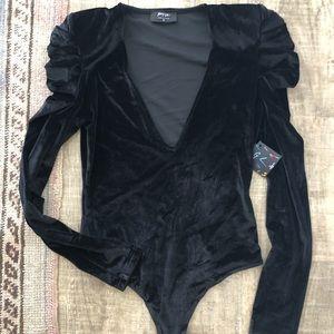 Nast Gal velvet bodysuit